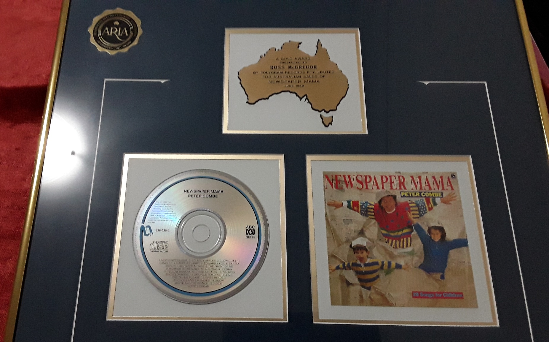 Gold Aria award to Ross for producing the Newspaper Mama album