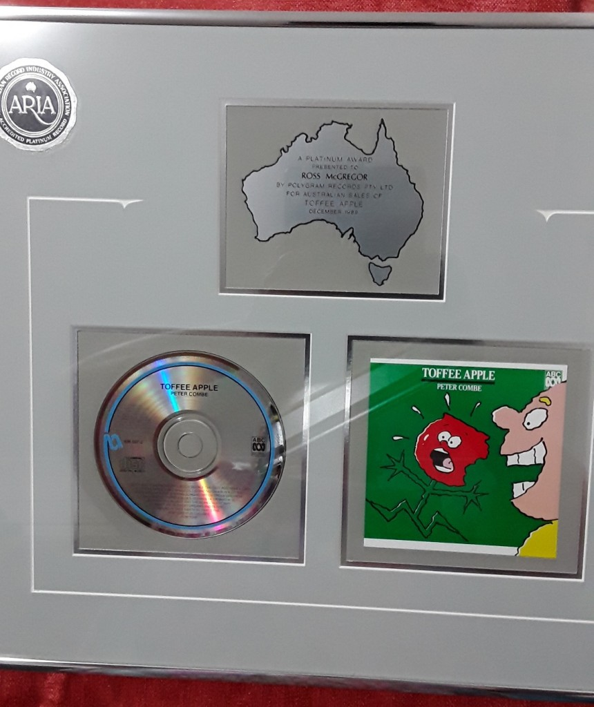 Platinum Aria award to Ross, for producing the Toffee Apple Album