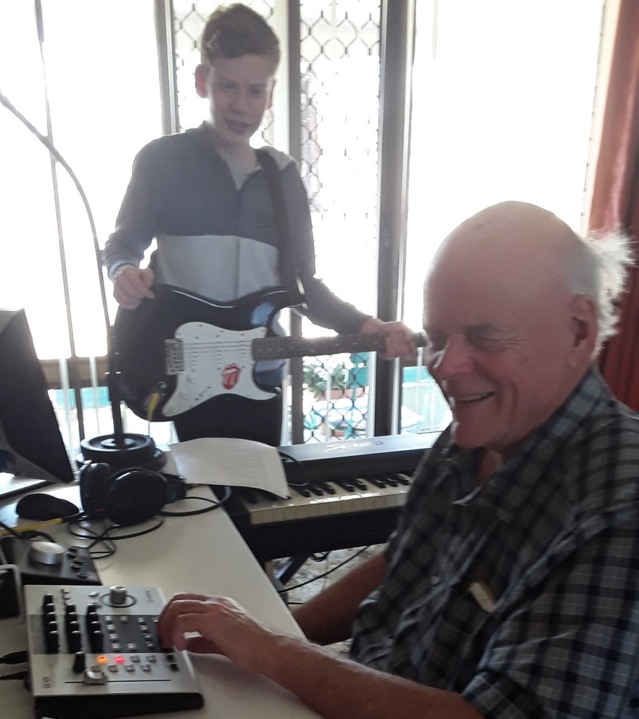 Ross in his Home Studio in Tamworth