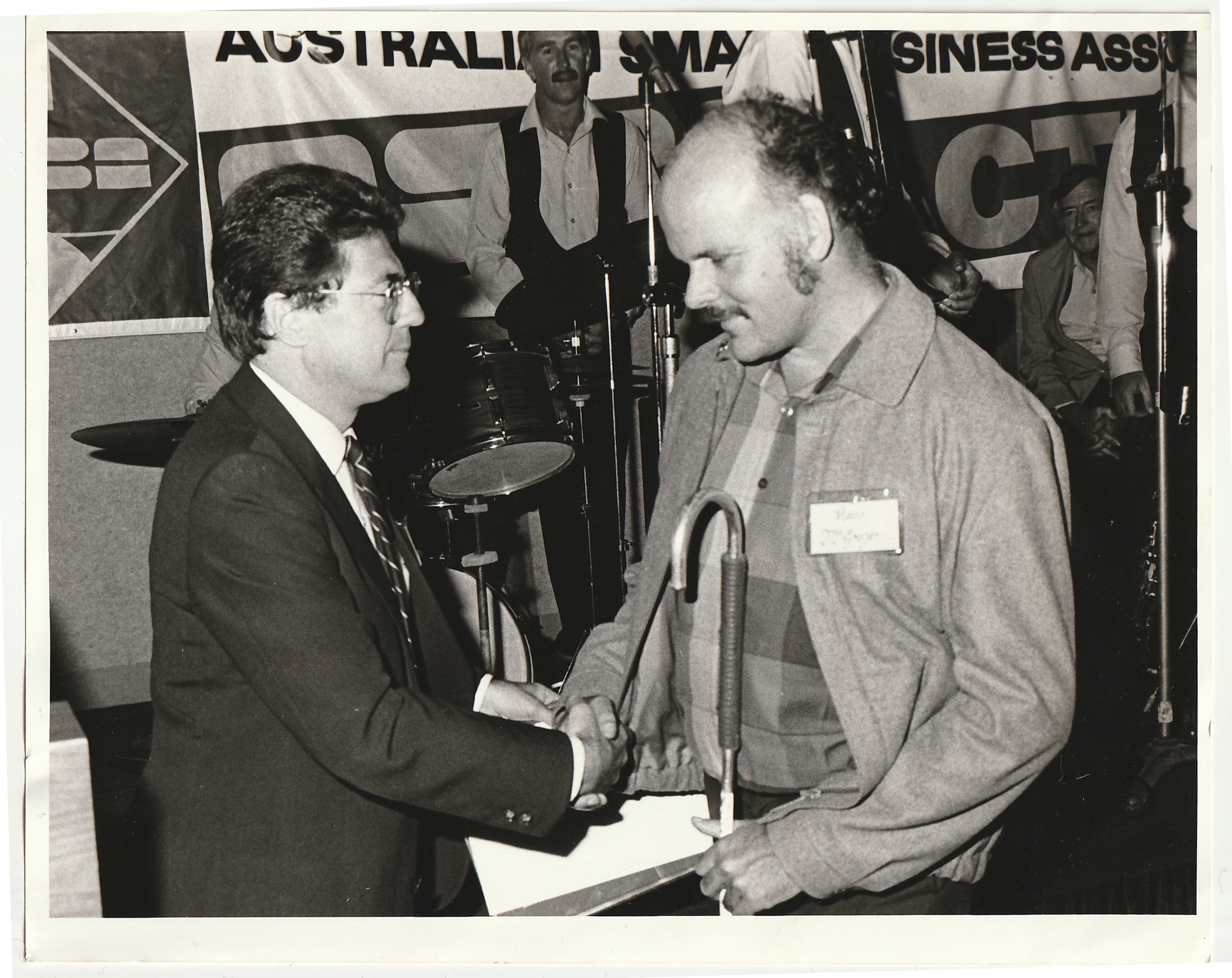 Ross receiving business award (Sydney)