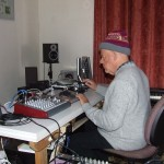 Ross recording in his Home Studio in Tamworth